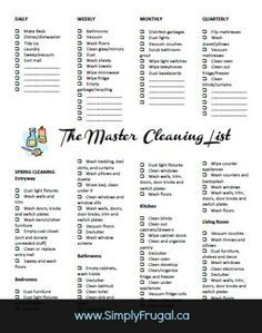 40 best Cleaning Schedule images on Pinterest | Cleaning schedules ...
