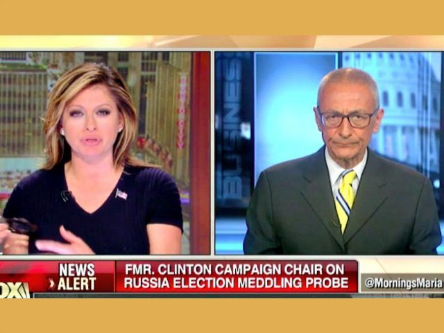 John Podesta grew angry when Fox Business host Maria Bartiromo highlighted his own ties with companies connected to Russia.