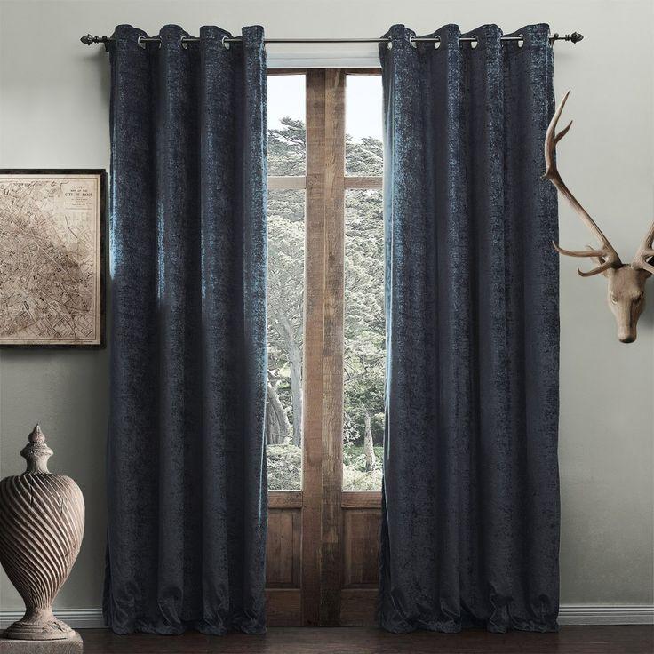 Modern Solid Blue Grey Curtain #curtains #decor #homedecor #homeinterior # Blue