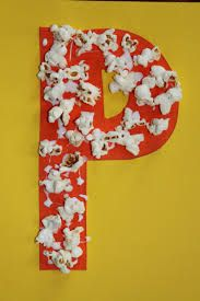popcorn craft for letter p - Preschool Crafts