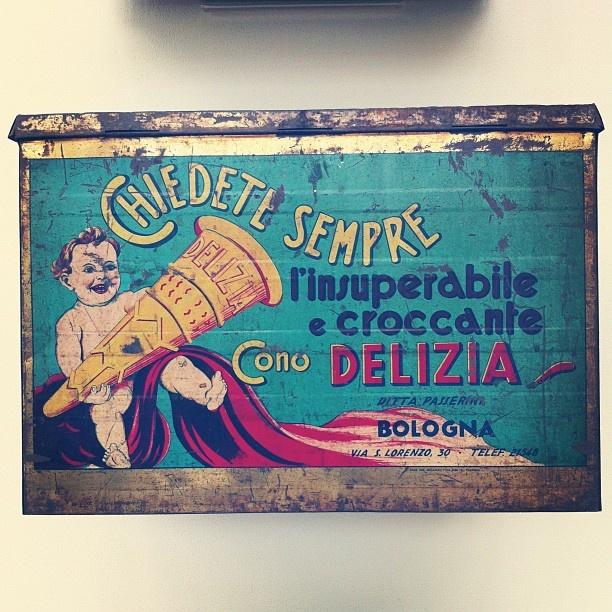 #museo #gelato Scatola cono Delizia