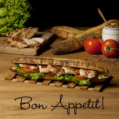 Φρεσκοψημένο ψωμί και τα πιο αγνά υλικά... το lunch break στη γλώσσα μας!