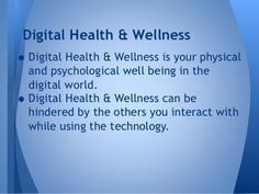 digital health and well being-digital citizenship