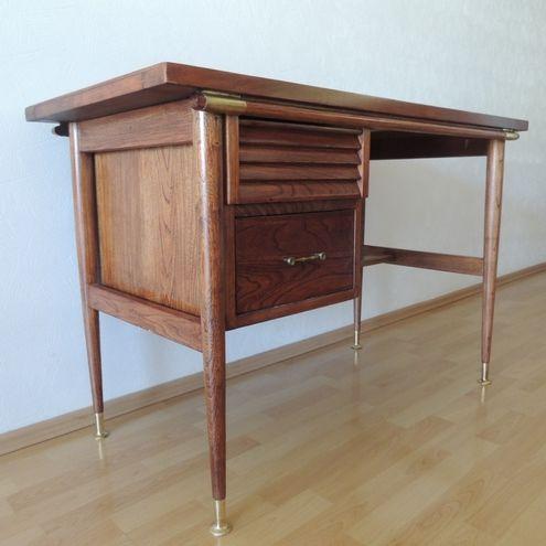 Desk In Elm Wood By Muebleria La Malinche, Mexican Mid Century Modern  Period.