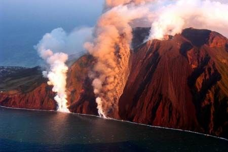 Stromboli Volcano, Sicily, Italy - This is one of eight volcanic islands just…