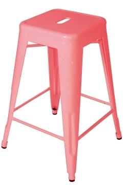 replica Xavier Pauchard pink powder-coated stool.