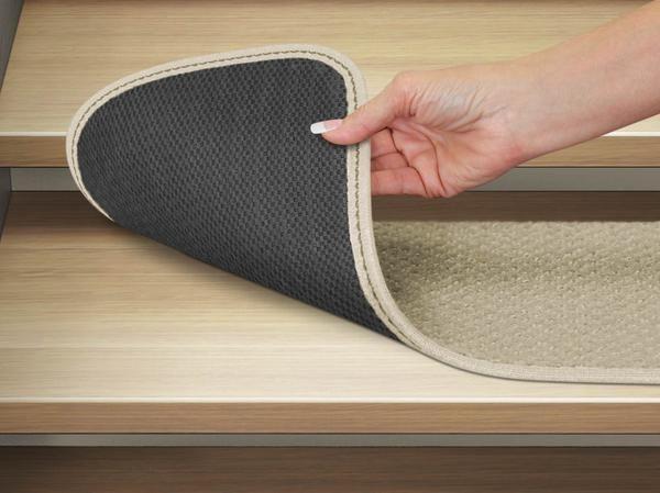 Set Of 15 Skid Resistant Carpet Stair Treads Ivory Cream Carpet | Carpet Stair Treads Home Depot | Pattern | Lowes | Metal Stair | Wood Stair | Garden