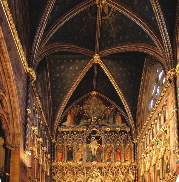 Gothic Revival The Interior Of All Saints Church Margaret Street London By William Butterfield