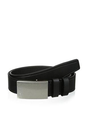 67% OFF J.Campbell Los Angeles Men's Embossed Plaque Buckle Belt (Black)