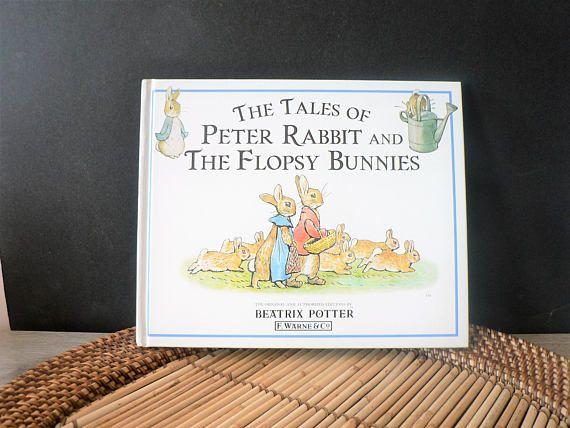 Vintage Beatrix Potter Peter Rabbit and Flopsy Bunnies Book