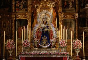 ALTAR DE CULTOS EN HONOR DE MADRE DE DIOS DEL ROSARIO-IGLESIA DE STA. ANA DE SEVILLA.