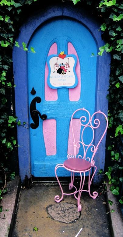 Alice in Wonderland door and chair... as seen in Disneyland :)