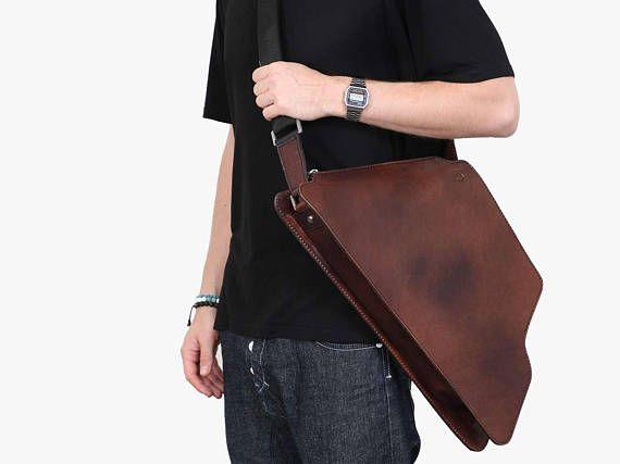 2in1 Leather bicycle frame bag & Elegant messenger bag