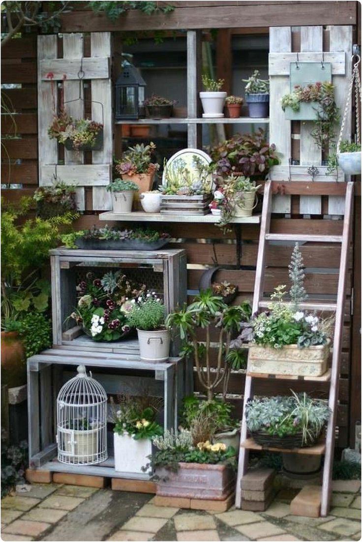 Je vous propose aujourd'hui de jolies idées pour balcon et terrace – Here are some pretty ideas for balcony and terrace.