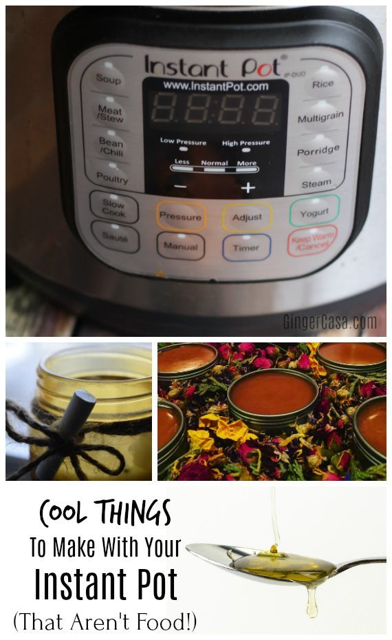 You can make just about any delicious recipe in the Instant Pot...but what about other things?  YES!  Check out all the fabulous things you can make in the Instant Pot that are NOT food!