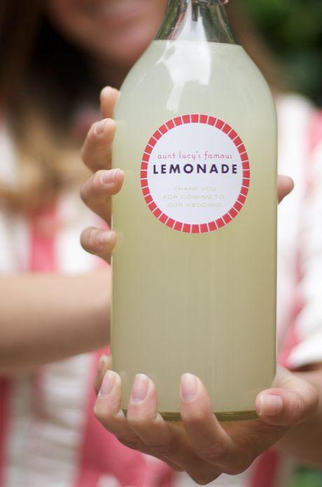 Homemade Lemonade, with homemade labels. Everything tastes better homemade.