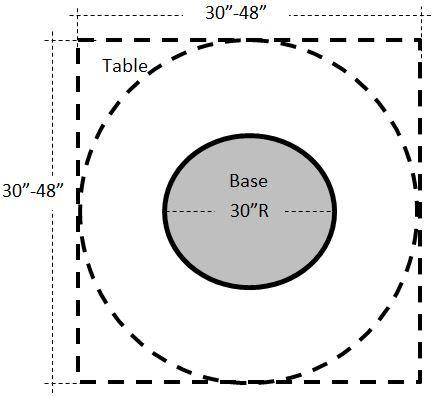 "30"" Round Steel Restaurant Table Base - TB030R"