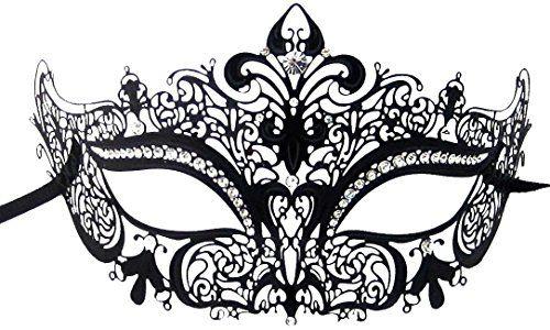 Luxury Mask Women's Laser Cut Metal Venetian Crown Mask, Black/Clear Stones, One Size Luxury Mask http://www.amazon.com/dp/B00K1HQ7D6/ref=cm_sw_r_pi_dp_VFxhwb0244TVM