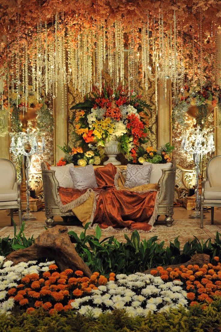 Place to seating for the bride and groom