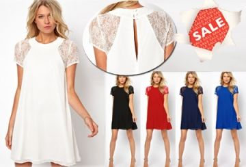 Summer Chic jurk in maten S t/m XXL - nu SALE t.w.v. €34,95 slechts €14,95 - in 5 kleuren  #chic #sjiek #chique #jurken #jurk #jurkje #aanbieding  https://www.vouchervandaag.nl/aanbieding-korting-mode-fashion-jurk-online-kopen-summer-chic-zomer-2014-sale