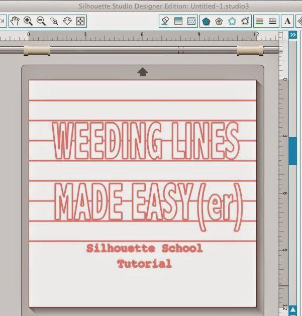 Silhouette School: Silhouette Weeding Lines Tutorial: 7 Steps for Beginners