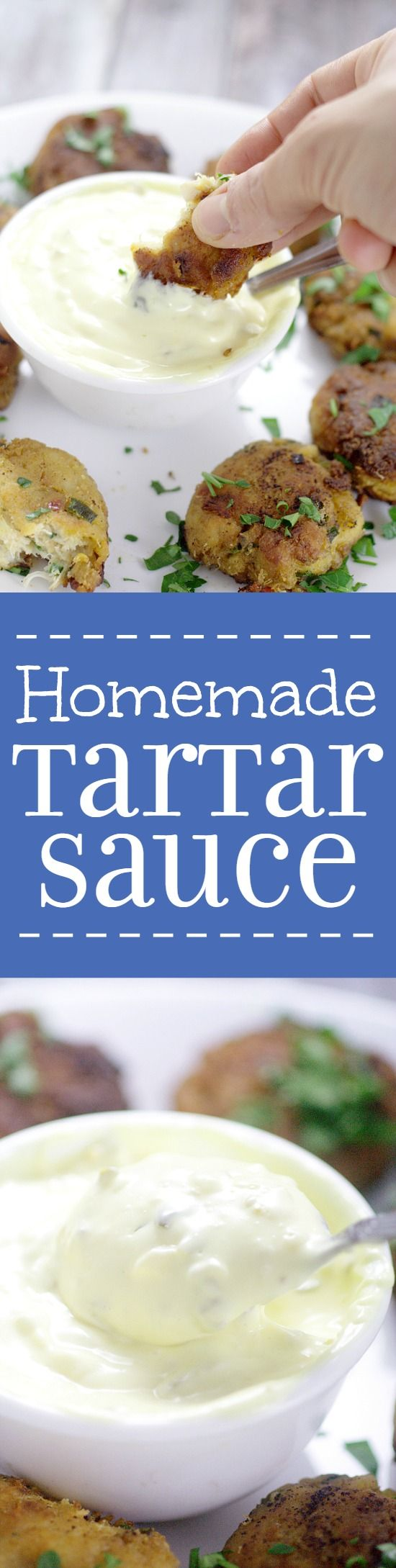 Homemade Tartar Sauce is super easy to make!Make this creamy, tangy Homemade Tartar Sauce recipe in just 5 minutes to go perfectly with your favorite fish dish! Yum!