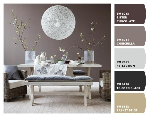 """Paint colors from Chip It! by Sherwin-Williams. Love this palette! Besides being beautifully peaceful, one of the paint colors is called """"Chinchilla"""" <3 https://www.pinterest.com/vintagedaydream/my-chip-it-creations/"""