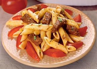 Roasted Red Pepper Pesto Pasta With Kalamata Olives And Feta Recipe ...