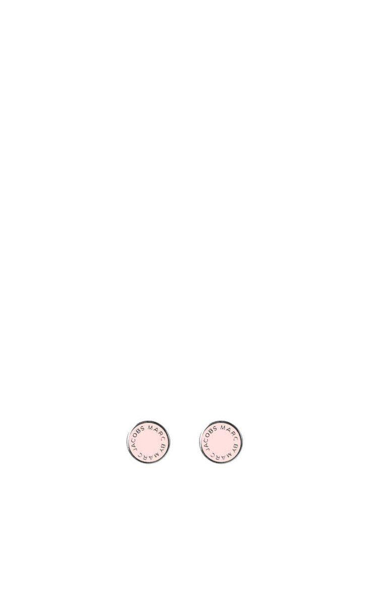 Örhänge Enamel Logo Disc Studs BLUSH/SILVER - Marc by Marc Jacobs - Designers - Raglady