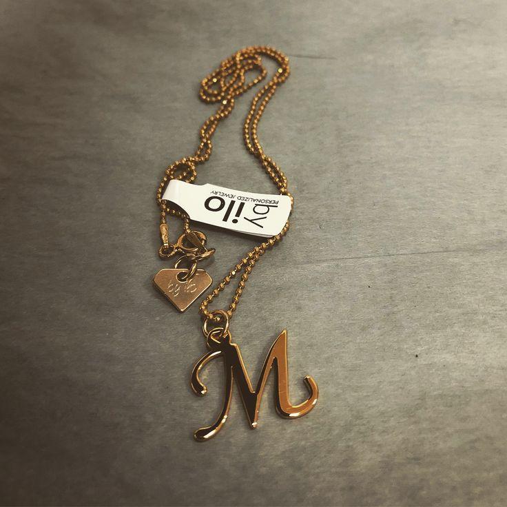 M letter necklace