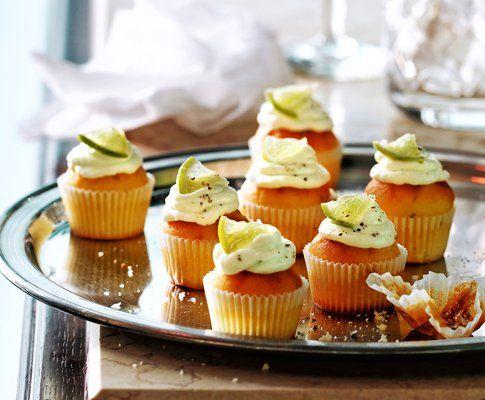 Salzige Gin-Limetten-Cupcakes mit Rosmarin
