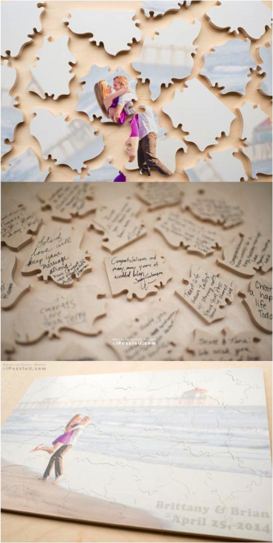 Custom Puzzle - Wedding Guest Book Alternative. Customize the puzzle with your…