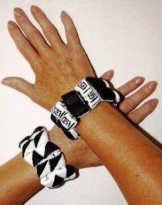 Recycling - bracelets, artist Ing. Christina Pavluvčíková.