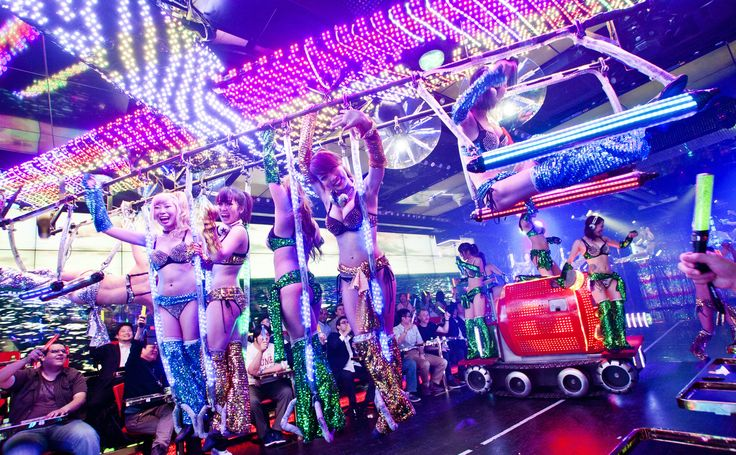 Tokyo hasn't seen anything like this since the Bubble Era. Every night in a basement in Shinjuku's Kabukicho district, bikini-clad women stage mock battles using...