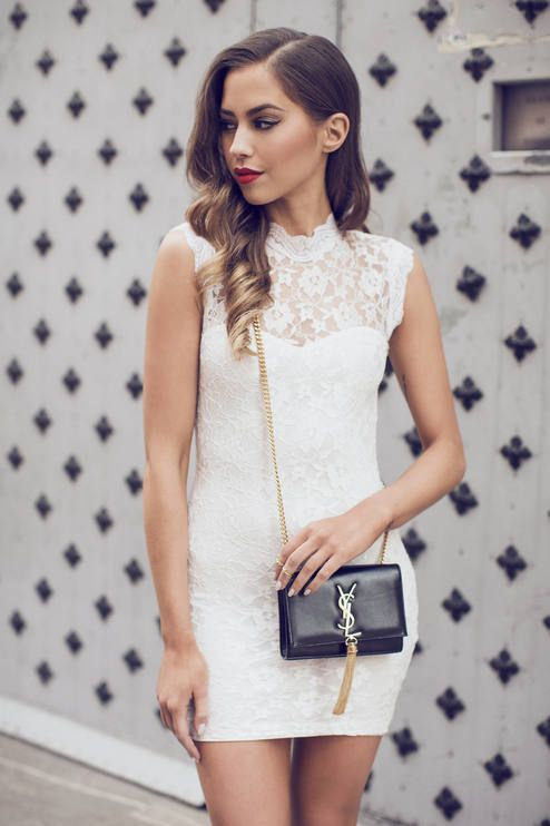 WE HEART FASHION: White Lace Summer Dress find more women fashion ideas on www.misspool.com