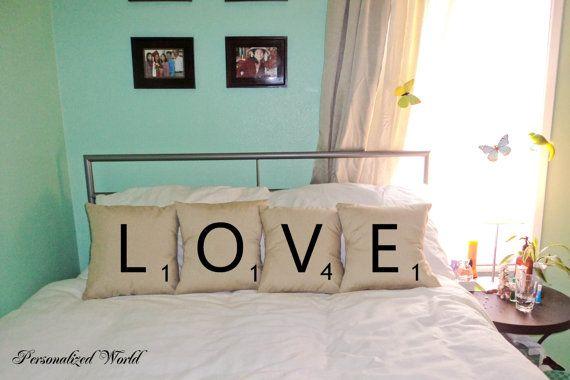 Want: Pillows Cases, Letters Decor, Pillow Cases, Cushion Covers, Decorative Pillows, Cushions Covers, Decor Pillows, Cases Cushions, Scrabble Letters