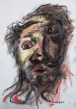 "Saatchi Online Artist Masri Hayssam; Drawing, ""Self portrait - P40"" #art"