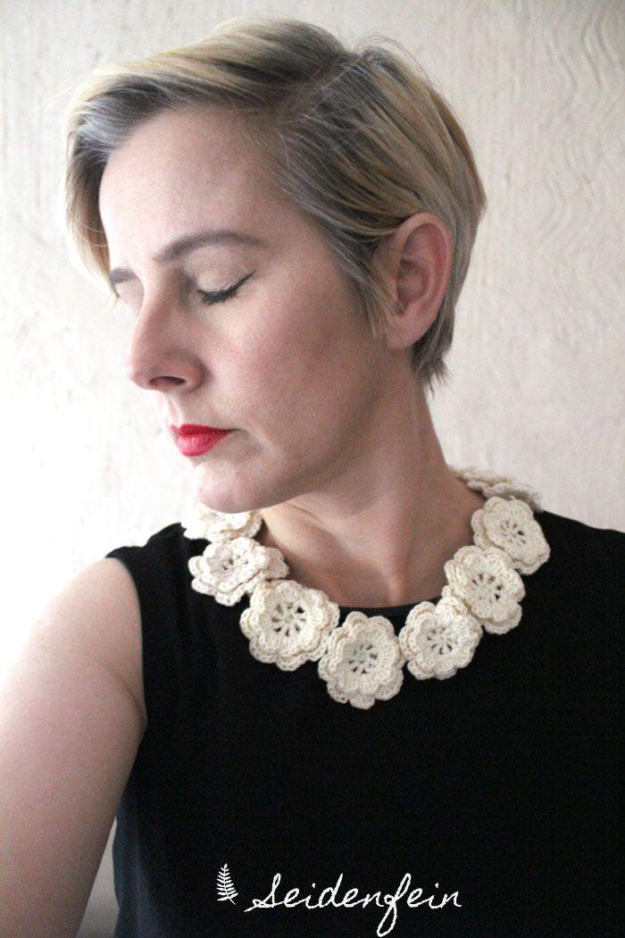 seidenfeins Blog vom schönen Landleben: Friedas collar * Friedas Kragen * Diy Häkelkragen