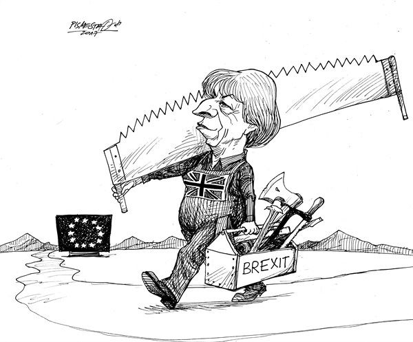Petar Pismestrovic - Kleine Zeitung, Austria - Woodcutter - English - Theresa May, Great Britain, Brexit, EU, Politic