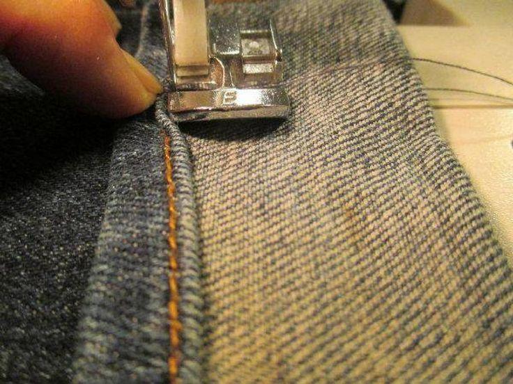 Apprenez à faire l'ourlet d'un denims sans couper l. a. couture originale