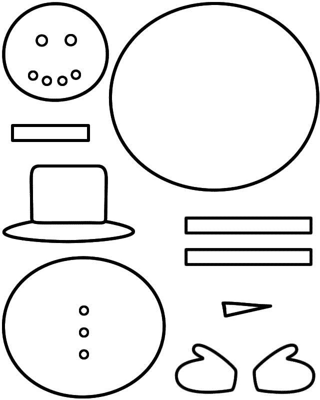 25+ unique Felt snowman ideas on Pinterest Christmas felt crafts - snowman template