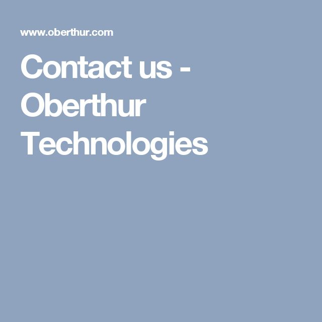 Contact us - Oberthur Technologies