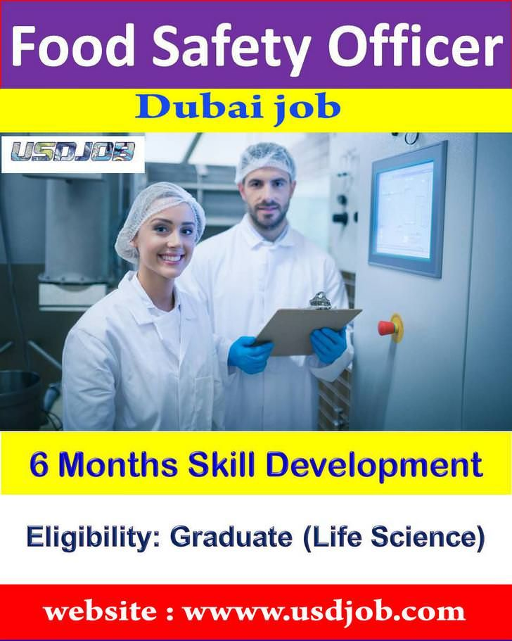 Food Safety Officer Jobs In Dubai Life Science Accounting Jobs Dubai