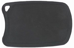 """Salter Kitchen Flexible Cutting Mat - 7 × 9½ - Black by Salter Kitchen. $6.00. Colour/Pattern: Black. Sold individually. This cutting mat is perfect for slicing and dicing fruit, vegetables, cheese, and more. The mat.... Size: 7 × 9½. Dimensions: 9½""""L × 7""""W. This cutting mat is perfect for slicing and dicing fruit, vegetables, cheese, and more. The mat is made with ecofriendly TPE and Arkshell. It is highly scratch and heat resistant. It has a unique flexible design for eas..."""
