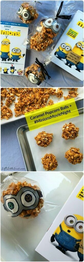 This easy and simple Caramel Popcorn Balls recipe has only 4 ingredients, including homemade Dutch Oven Popcorn! Check out my tutorial down below on illustrating the treat bags for the Caramel Popcorn Balls like the Minions movie characters! Enjoy these Caramel Popcorn Balls during your #MinionsMovieNight! #MinionsMovieNight #ad #CollectiveBias #caramel #popcorn #popcornballs #minions