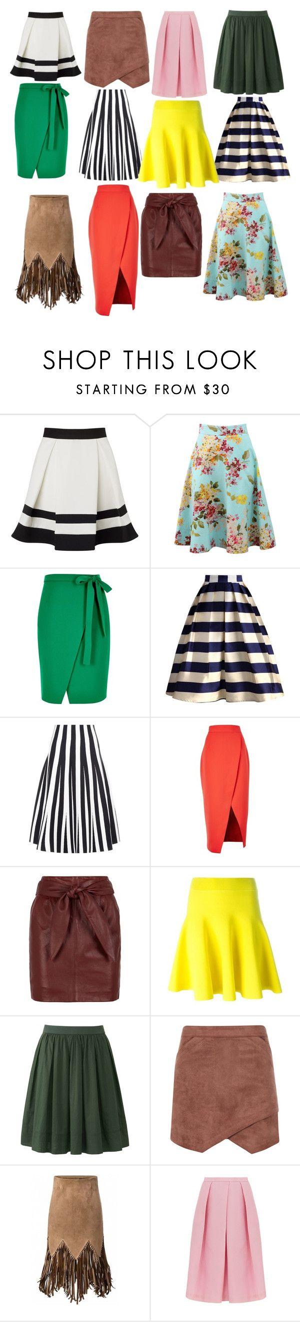 """""""Фасоны юбок"""" by siberia-natali ❤ liked on Polyvore featuring Lipsy, Blumarine, River Island, Chicwish, Alexander Wang, C/MEO COLLECTIVE, Reiss, Uniqlo, BCBGMAXAZRIA and WithChic"""