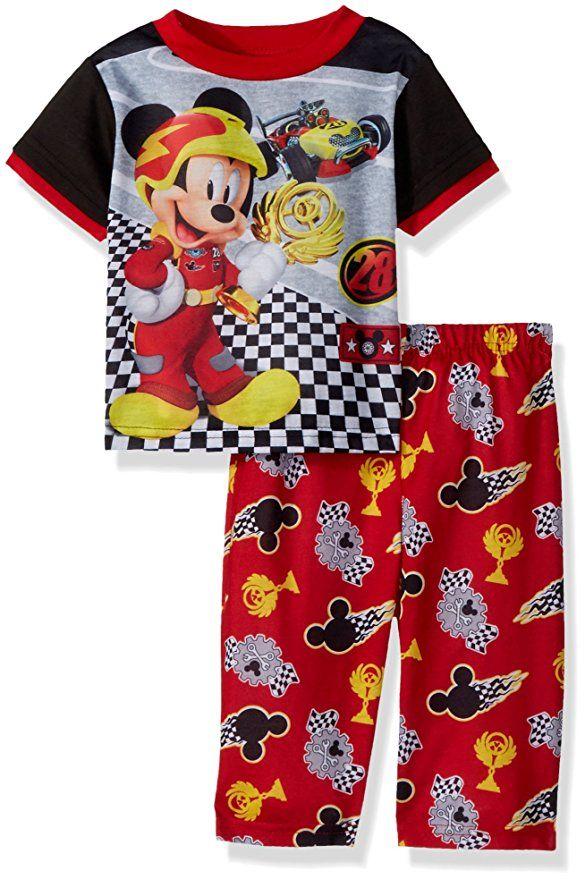 03047551c Disney Baby Boys Mickey Mouse 2-Piece Pajama Set