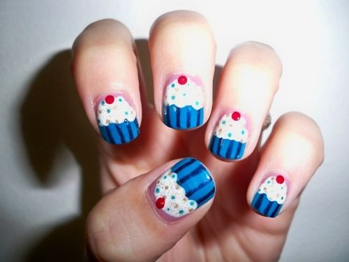 The 25 best cupcake nail art ideas on pinterest easter nails nail ideas 14 awesome cupcake nail art designs for girls pr prinsesfo Image collections