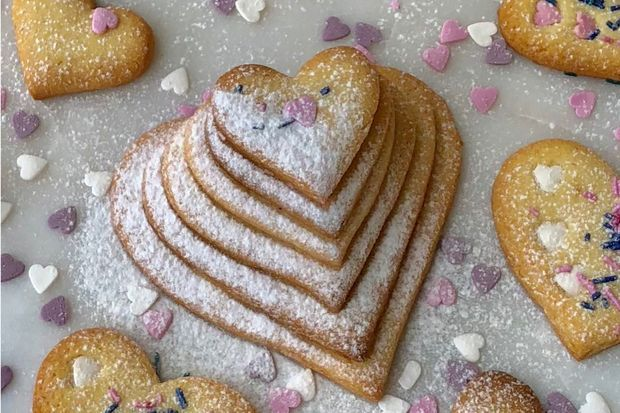 Limonlu sable bisküviler- Lemon sable biscuits🍋💛🍪