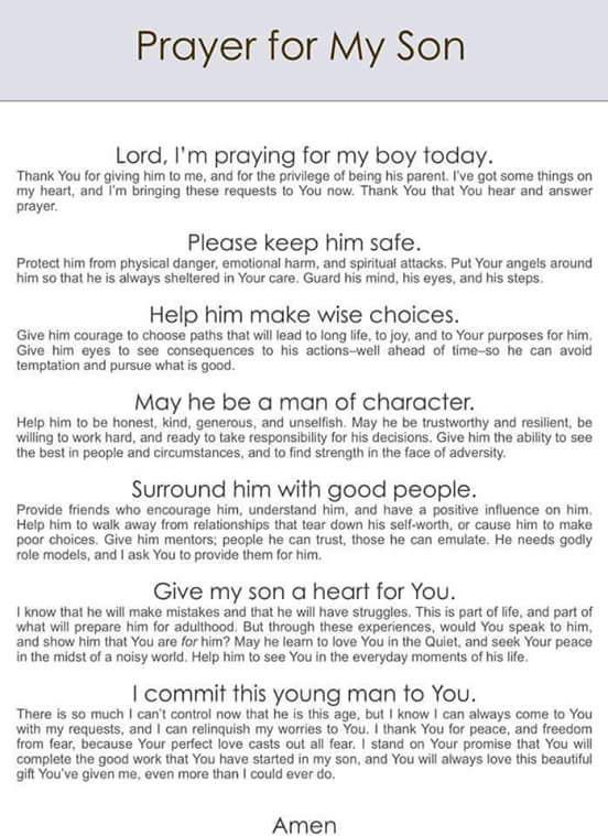 Most beautiful prayer for my son